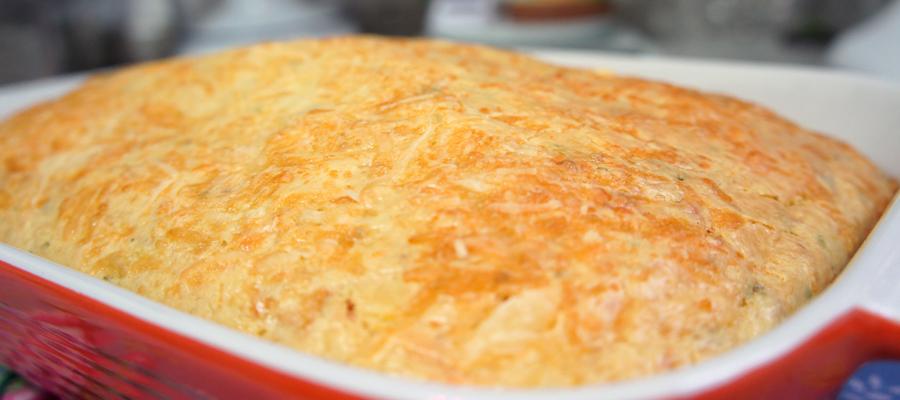 Bolo Salgado com Massa de arroz cru bunner