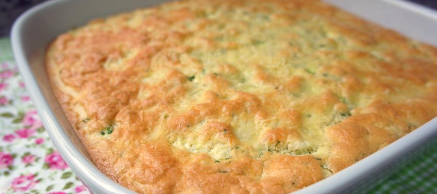 Omelete com Abobrinha no forno bunner